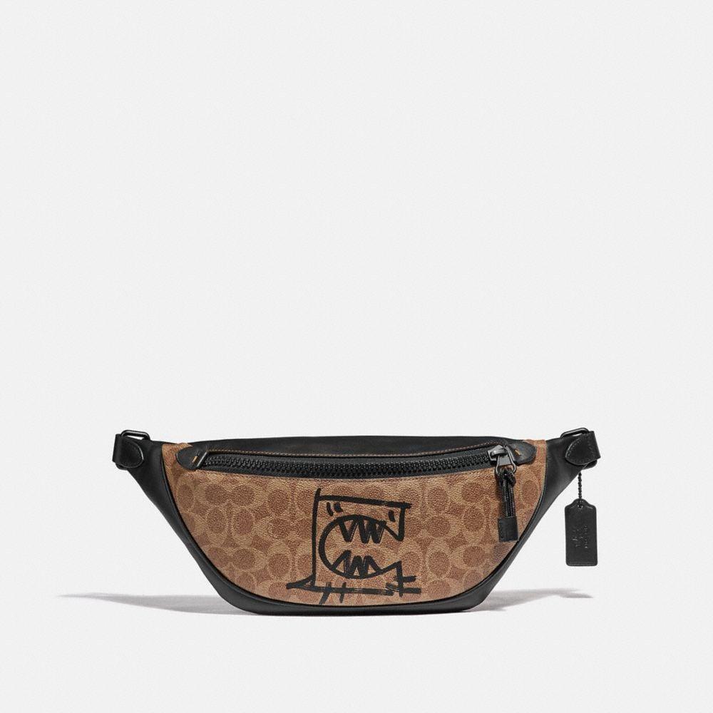 sac ceinture rivington en toile exclusive avec motif rexy par guang yu
