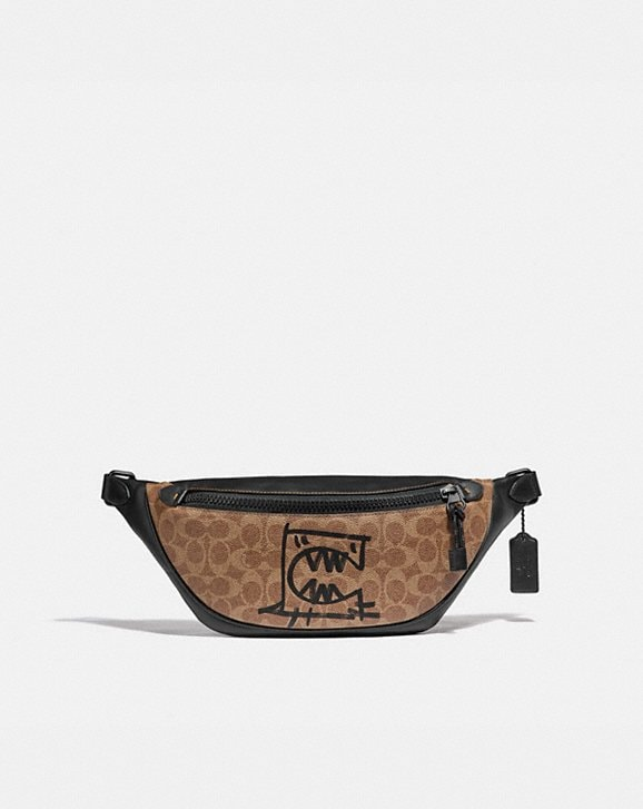 Coach RIVINGTON BELT BAG IN SIGNATURE CANVAS WITH REXY BY GUANG YU