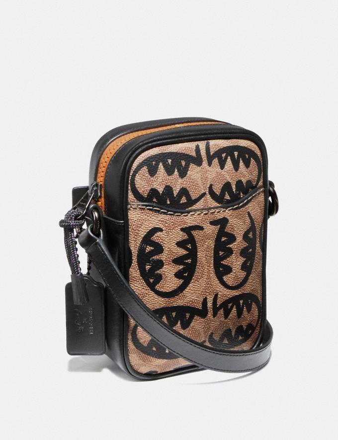 Coach Dylan 10 in Signature Canvas With Rexy by Guang Yu Khaki/Black Copper Men Bags View All Alternate View 1