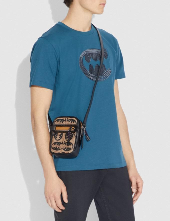 Coach Dylan 10 in Signature Canvas With Rexy by Guang Yu Khaki/Black Copper New Men's Trends Rexy Remix Alternate View 3