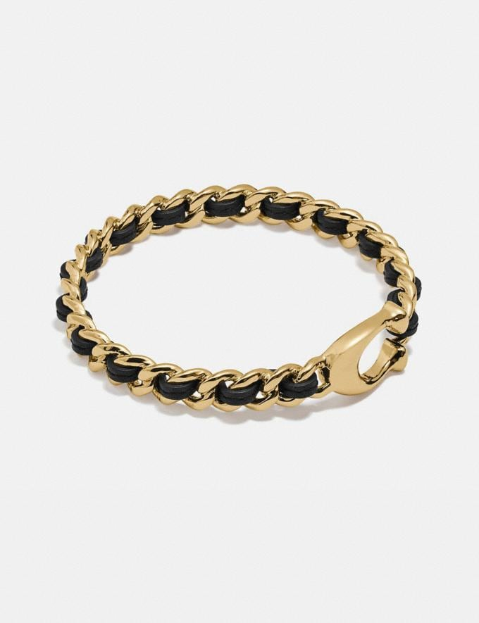 Coach Woven Bangle Black/Gold New Women's New Arrivals Accessories