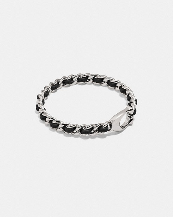 Coach SIGNATURE WOVEN LEATHER BANGLE