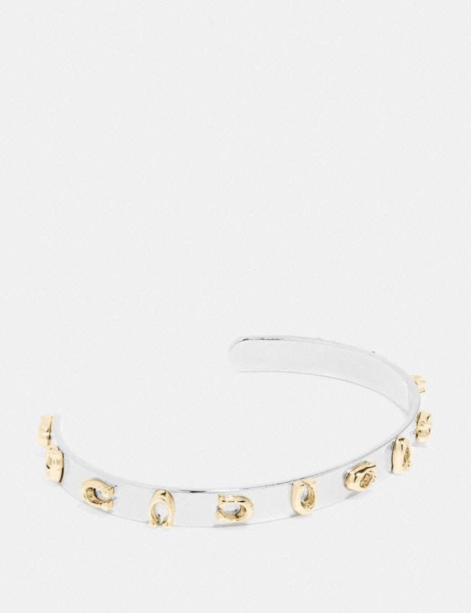 Coach Signature Cuff Yellow Women Accessories Jewellery
