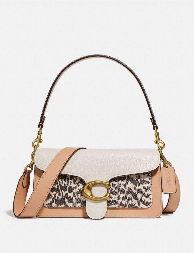 Coach Tabby Shoulder Bag 26 in Colorblock With Snakeskin Detail Beechwood/Multi/Brass Women Handbags