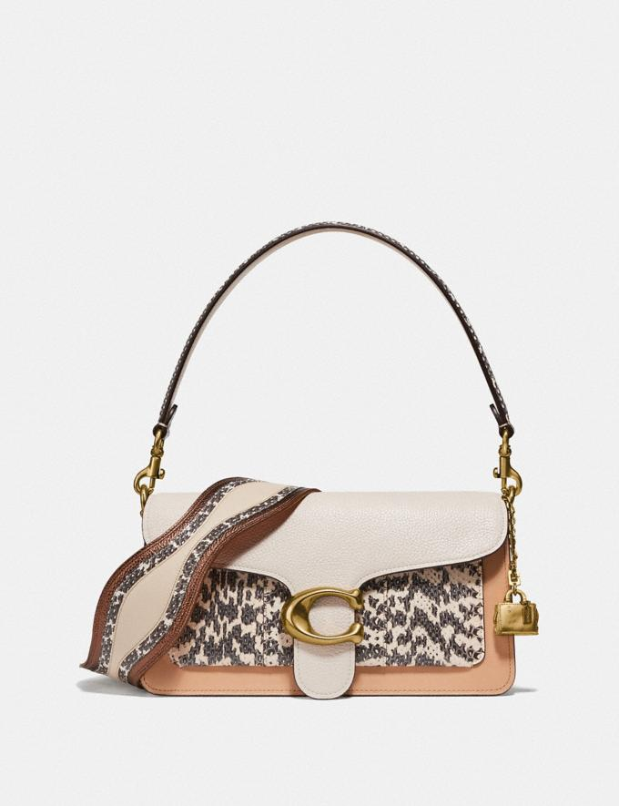 Coach Tabby Shoulder Bag 26 in Colorblock With Snakeskin Detail Beechwood/Multi/Brass New Women's New Arrivals Bags Alternate View 3