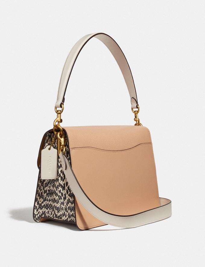 Coach Tabby Shoulder Bag in Colorblock With Snakeskin Detail Beechwood/Multi/Brass New Women's New Arrivals View All Alternate View 1