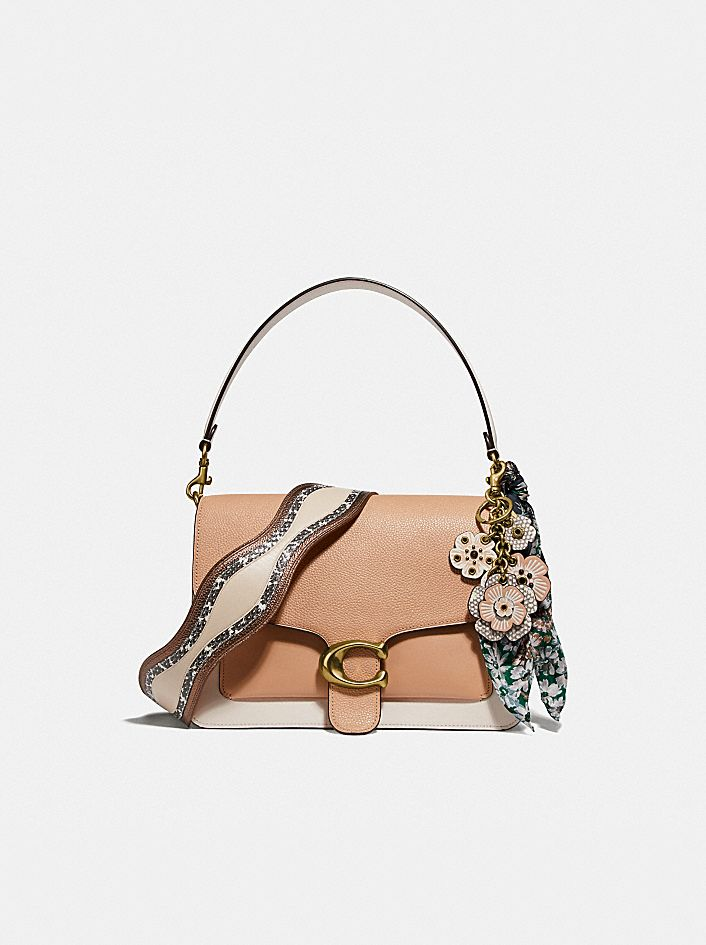 TABBY SHOULDER BAG IN COLORBLOCK WITH SNAKESKIN DETAIL