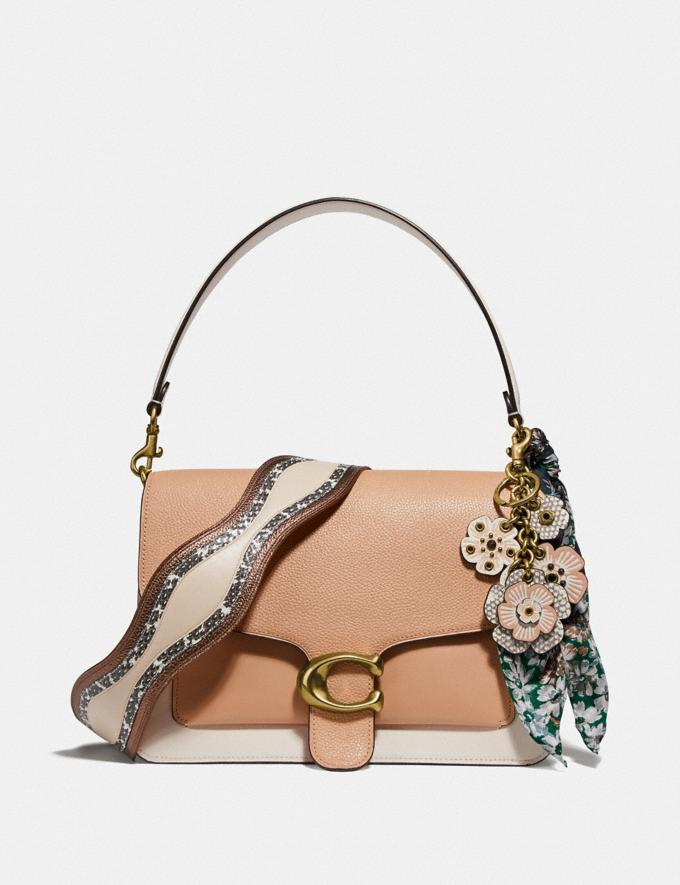 Coach Tabby Shoulder Bag in Colorblock With Snakeskin Detail Beechwood/Multi/Brass New Women's New Arrivals Bags Alternate View 3