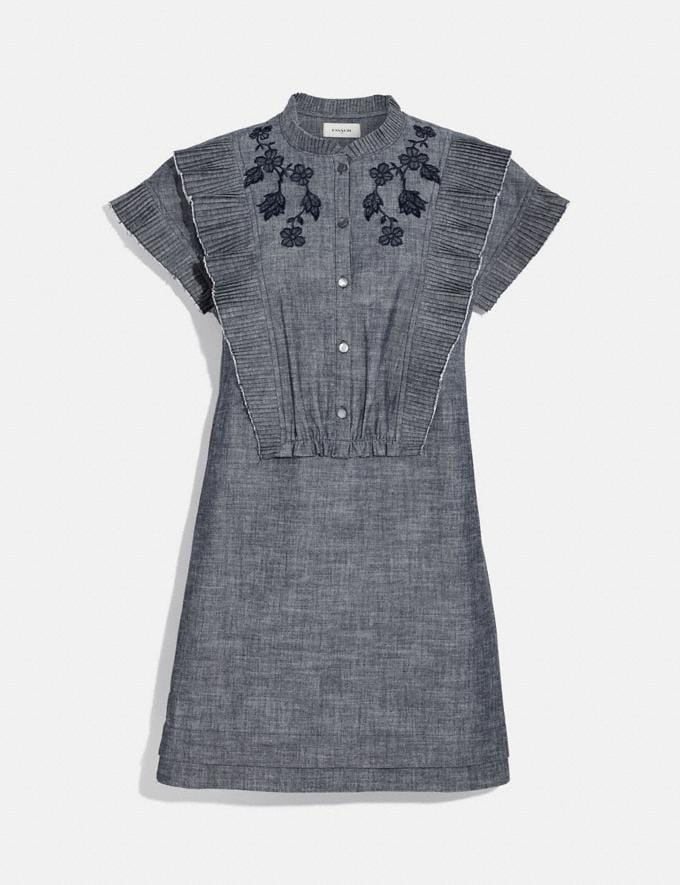 Coach Chambray Short Prairie Dress Chambray New Women's New Arrivals Ready-to-Wear