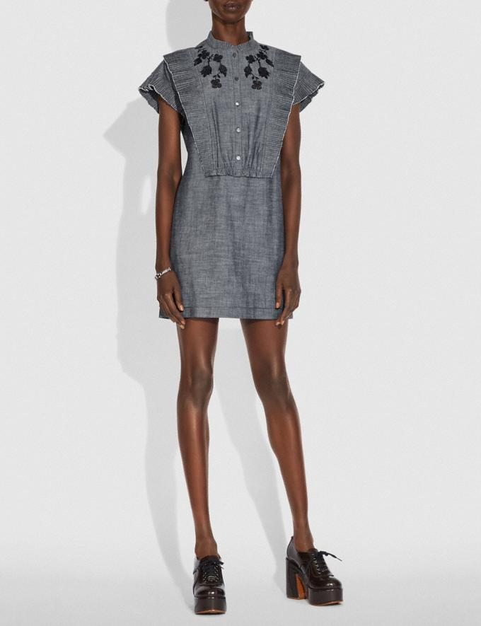 Coach Chambray Short Prairie Dress Chambray New Women's New Arrivals Ready-to-Wear Alternate View 1