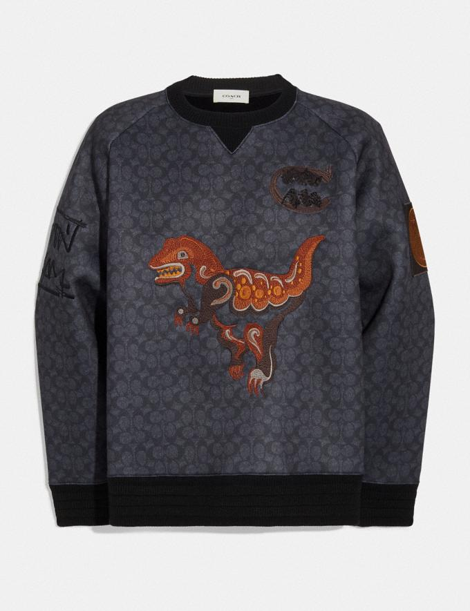 Coach Sweatshirt Rexy by Creative Artists Black Signature Herren Bearbeitungen Bearbeitung Kaltes Wetter