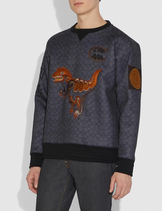Coach Rexy by Creative Artists Sweatshirt Black Signature Men Ready-to-Wear Tops & Bottoms Alternate View 1
