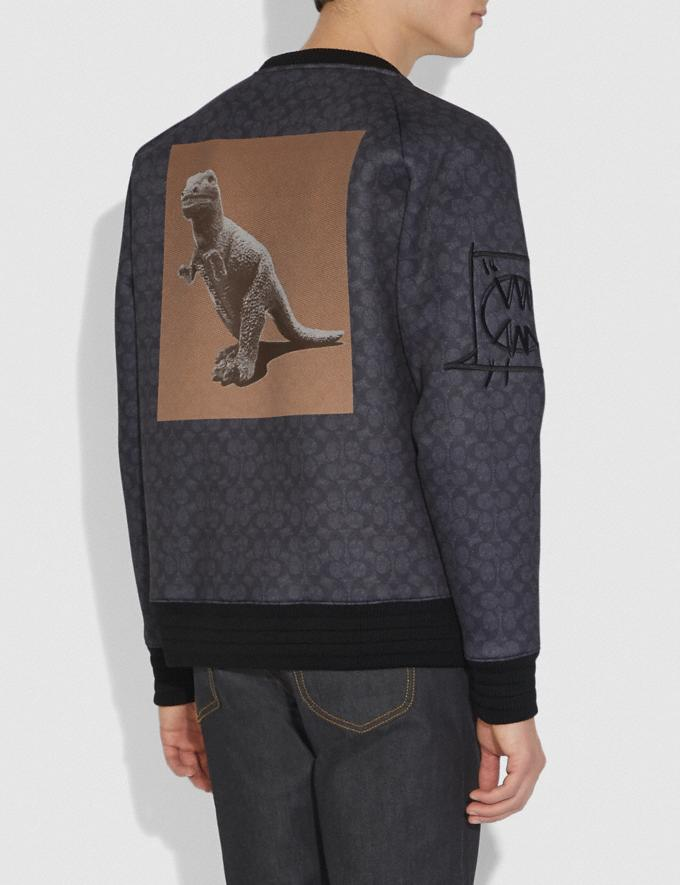 Coach Sweatshirt Rexy by Creative Artists Black Signature Herren Bearbeitungen Bearbeitung Kaltes Wetter Alternative Ansicht 2