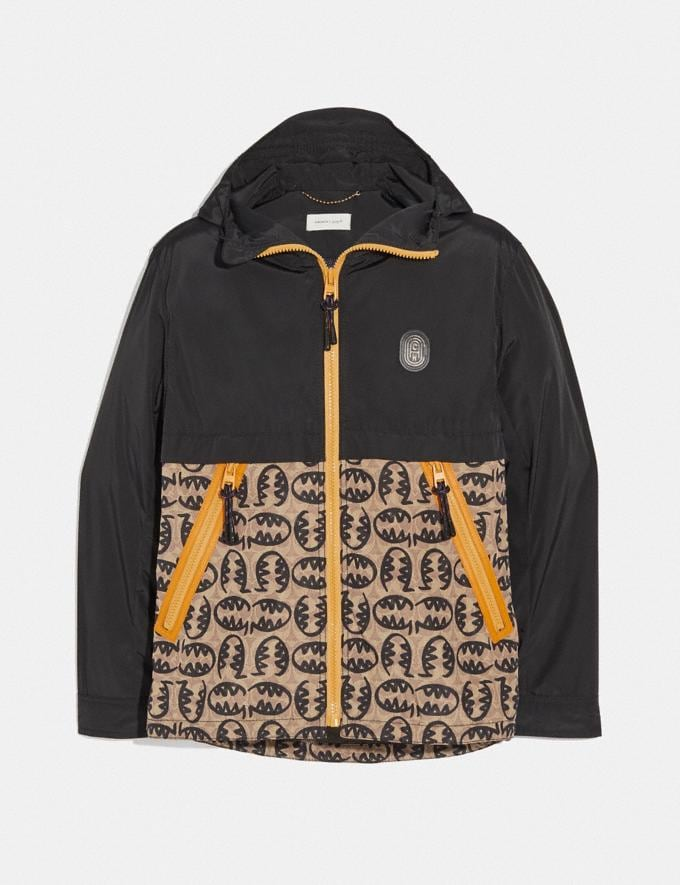 Coach Signature Rexy by Guang Yu Windbreaker Black/Tan Men Ready-to-Wear Jackets & Outerwear