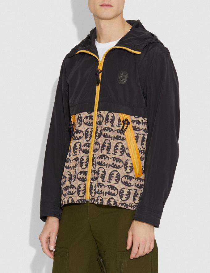 Coach Signature Rexy by Guang Yu Windbreaker Black/Tan Men Ready-to-Wear Jackets & Outerwear Alternate View 1
