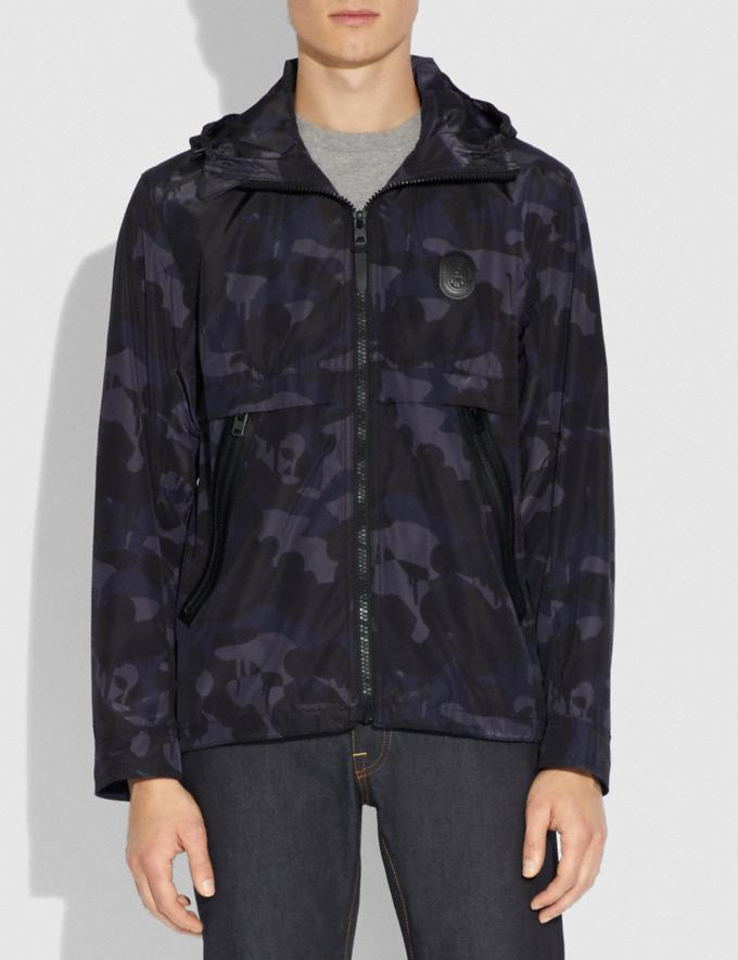 Coach Printed Windbreaker Blue Camo Men Ready-to-Wear Jackets & Outerwear Alternate View 1