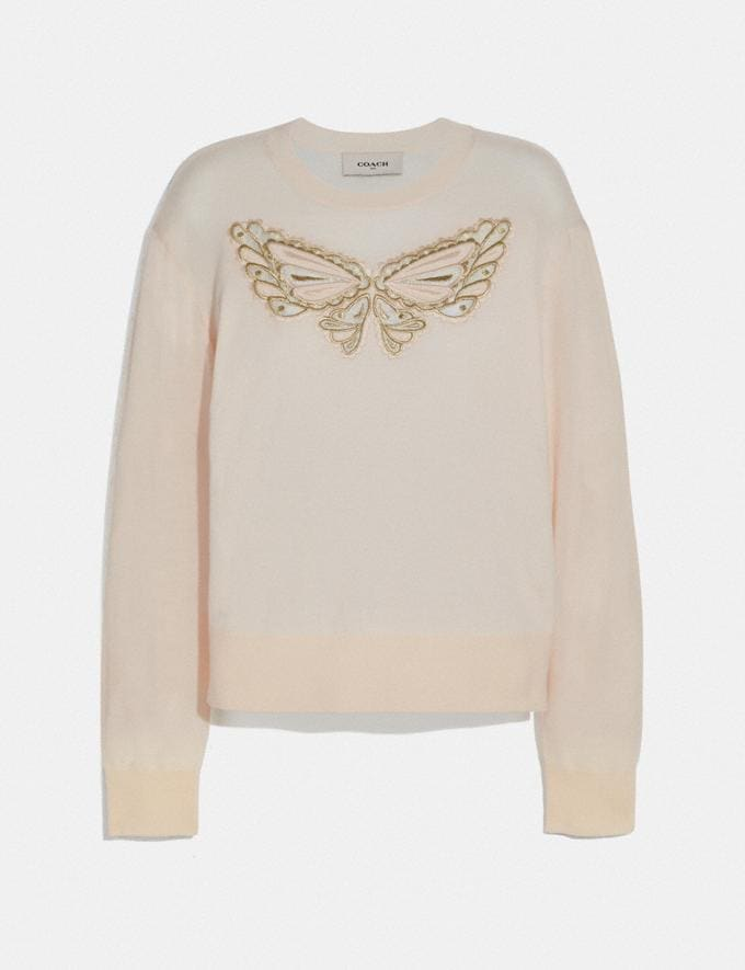 Coach Butterfly Lace Pullover Cream Staff Sale