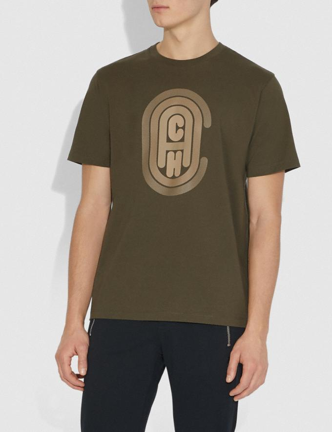 Coach Coach Graphic T-Shirt Olive Men Ready-to-Wear Tops & Bottoms Alternate View 1