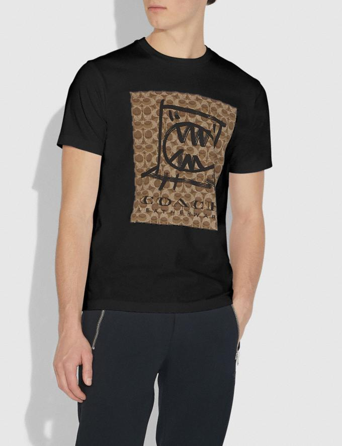 Coach Rexy by Guang Yu T-Shirt Black New Featured Rexy Collection Alternate View 1