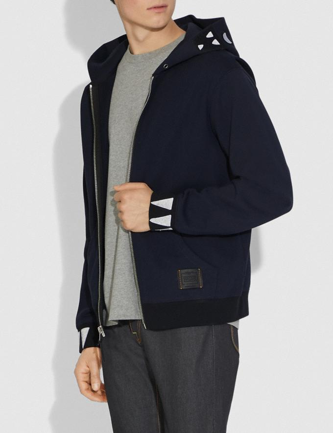 Coach Rexy Hoodie Navy Men Ready-to-Wear Tops & Bottoms Alternate View 1