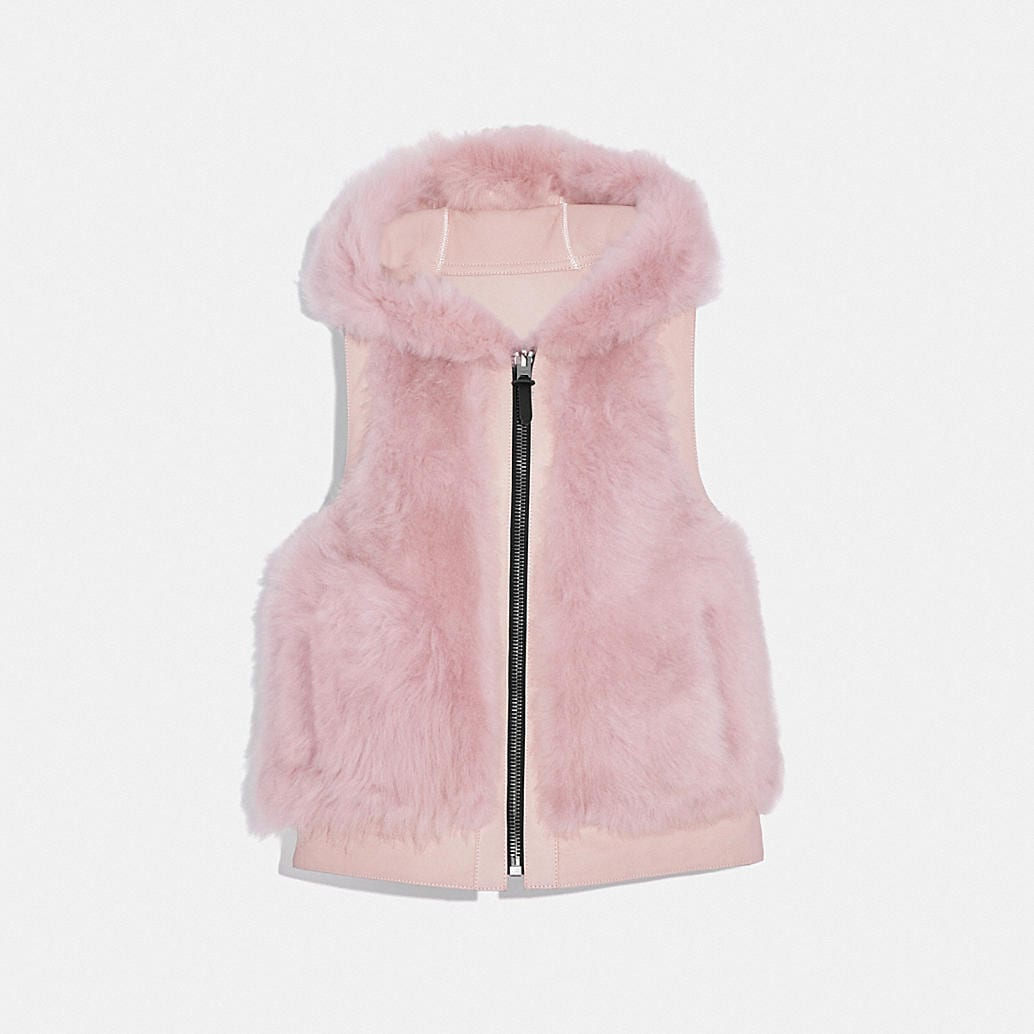 reversible-shearling-hoodie-vest by coach