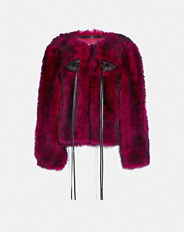 glam punk shearling jacket