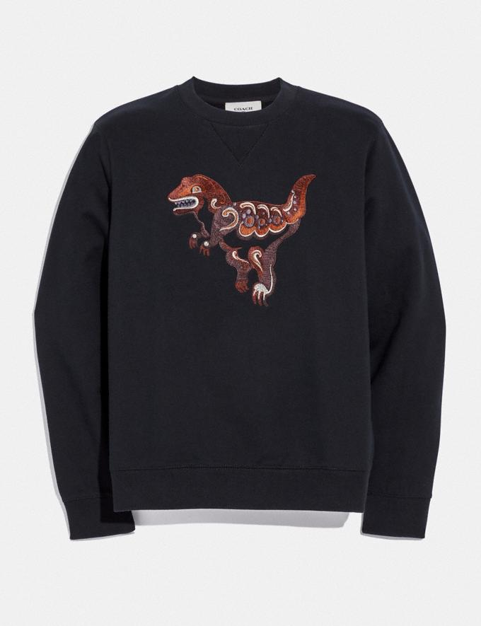 Coach Rexy by Zhu Jingyi Sweatshirt Black New Featured Rexy Collection