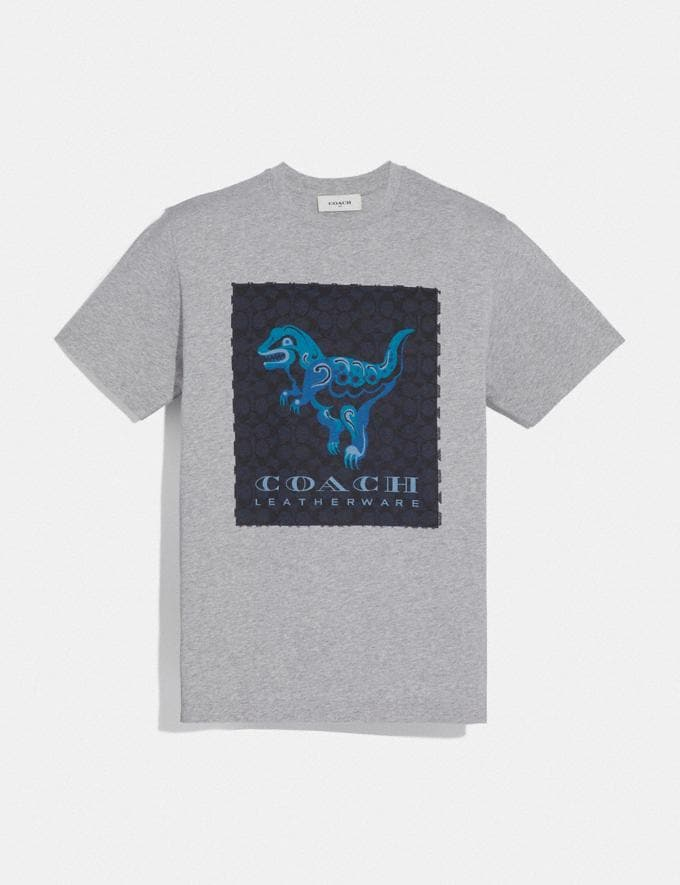 Coach Rexy by Zhu Jingyi T-Shirt Heather Grey Men Ready-to-Wear Tops & Bottoms