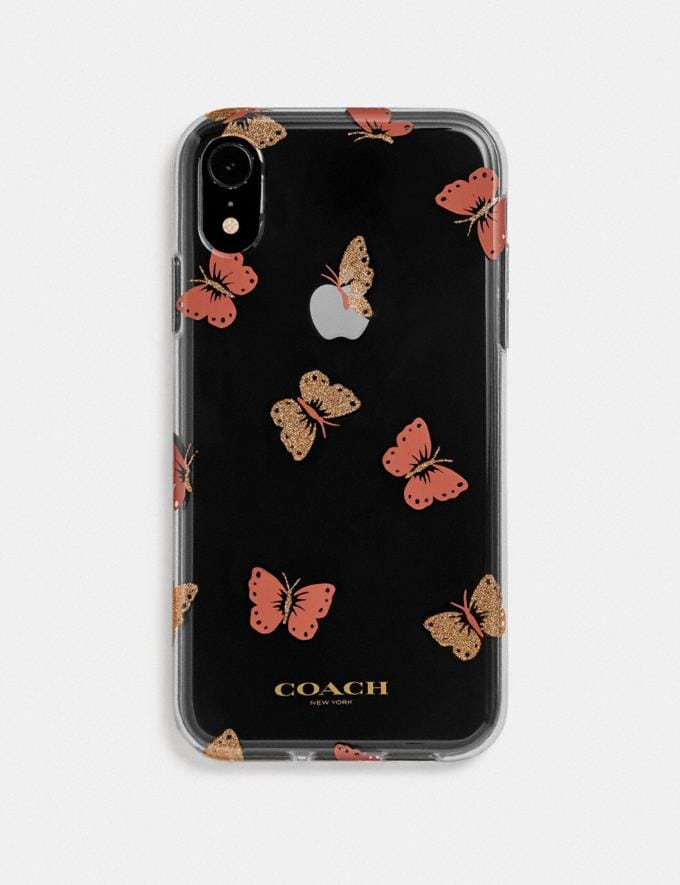 Coach Custodia per iPhone Xr Con Farfalle Multicolore Donna Accessori Accessori da viaggio