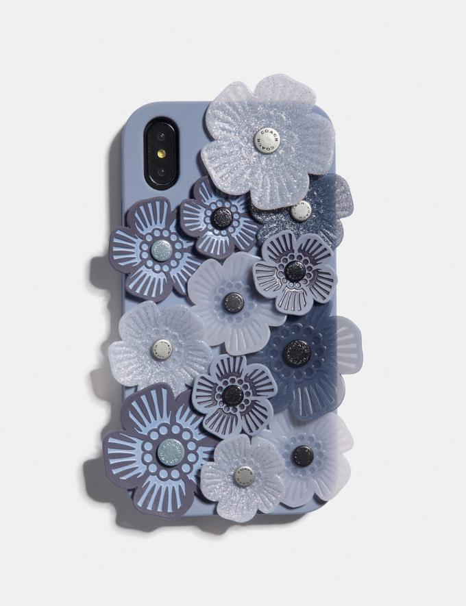 Coach iPhone Xr Case Mit Teerosen-Applikation Grau Neu Trends für Herren Denim
