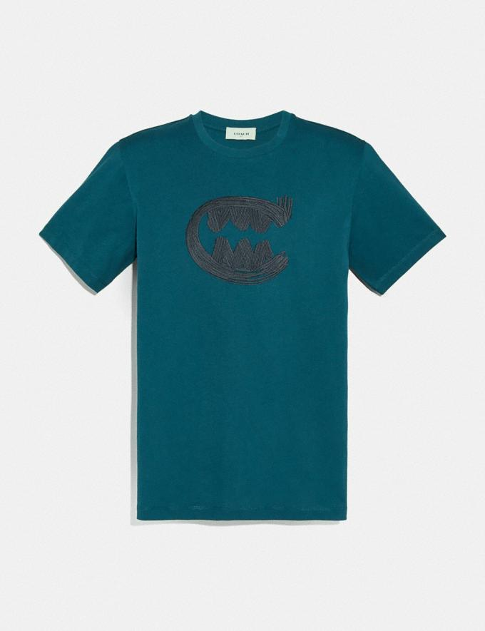 Coach Rexy by Guang Yu Short Sleeve T-Shirt Teal Men Ready-to-Wear Tops & Bottoms