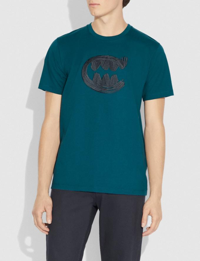 Coach Rexy by Guang Yu Short Sleeve T-Shirt Teal Men Ready-to-Wear Tops & Bottoms Alternate View 1