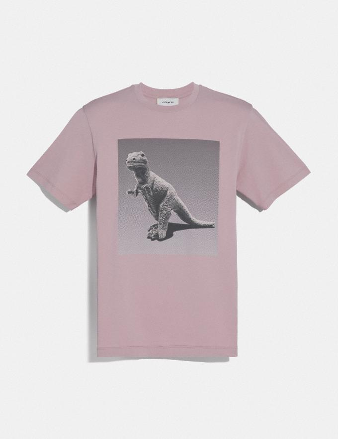 Coach Rexy by Sui Jianguo Short Sleeve T-Shirt Pink Champagne Men Ready-to-Wear Tops & Bottoms