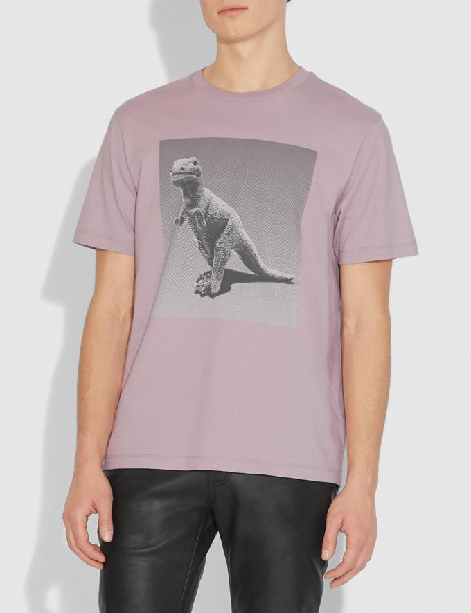 Coach Rexy by Sui Jianguo Short Sleeve T-Shirt Pink Champagne Men Ready-to-Wear Tops & Bottoms Alternate View 1