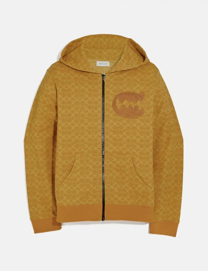 Coach Signature Rexy by Guang Yu Hoodie Yellow Men Ready-to-Wear Tops & Bottoms
