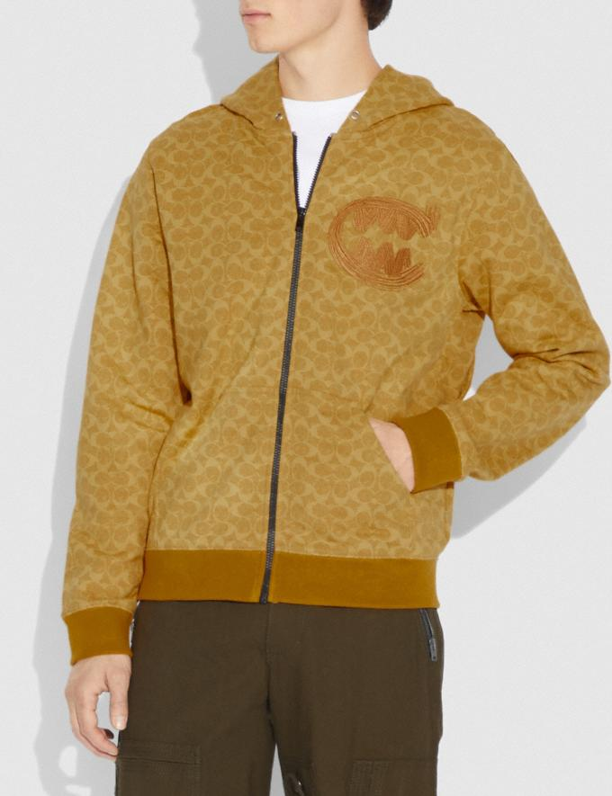 Coach Signature Rexy by Guang Yu Hoodie Yellow Men Ready-to-Wear Tops & Bottoms Alternate View 1