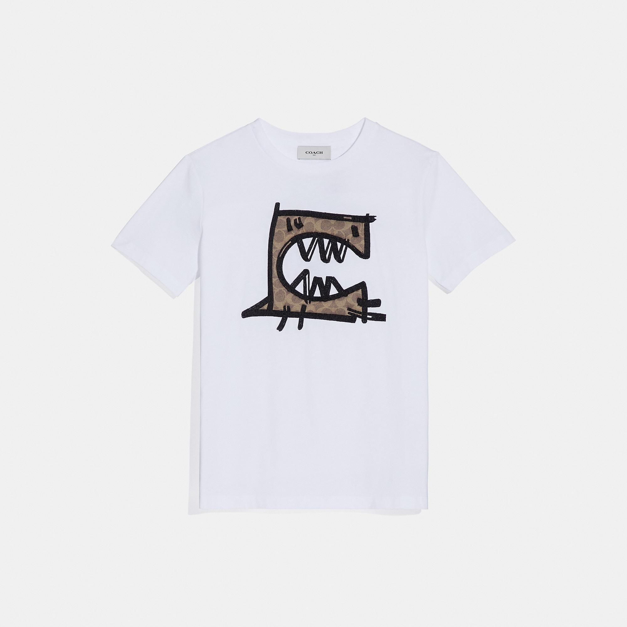 Coach Signature Rexy By Guang Yu T-Shirt In Optic White
