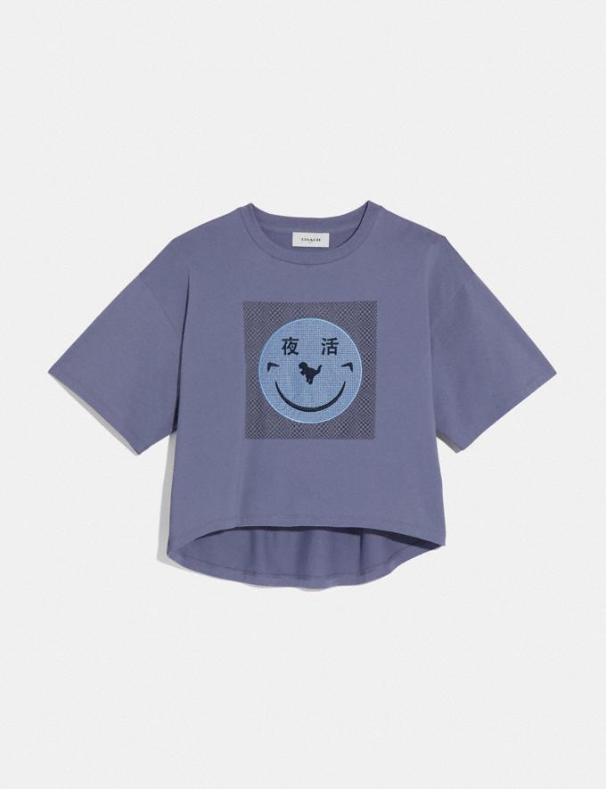 Coach Rexy by Yeti Out T-Shirt Periwinkle New Women's New Arrivals Collection