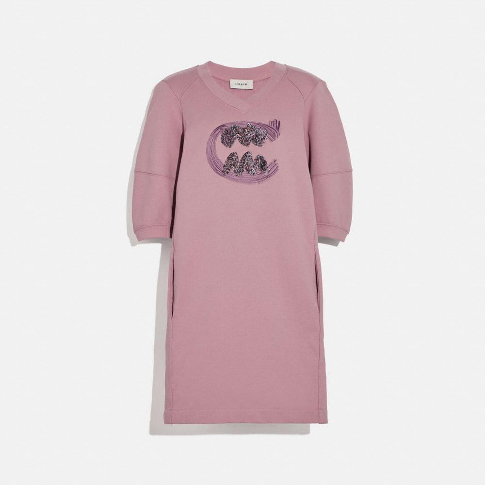 rexy by guang yu short sleeve sweatshirt dress