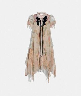 MINI TIERED DRESS WITH RUFFLE SLEEVE