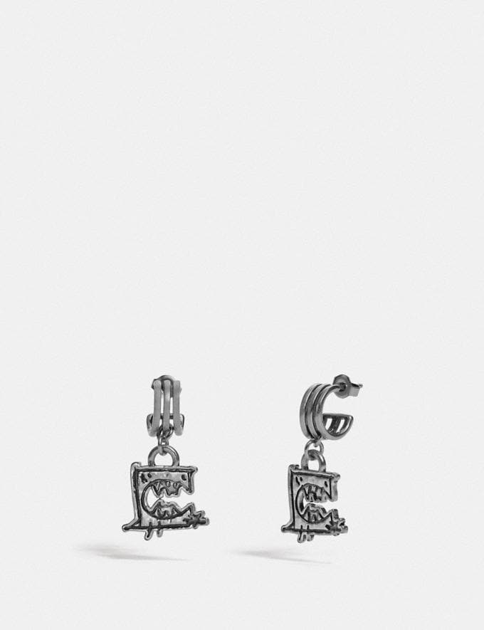 Coach Triple Hoop Earrings by Guang Yu Silver Women Accessories Jewelry