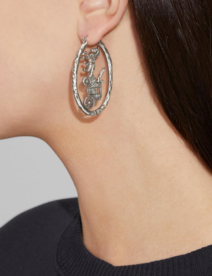 Coach Coachman Earrings Silver Women Accessories Jewellery Earrings Alternate View 1