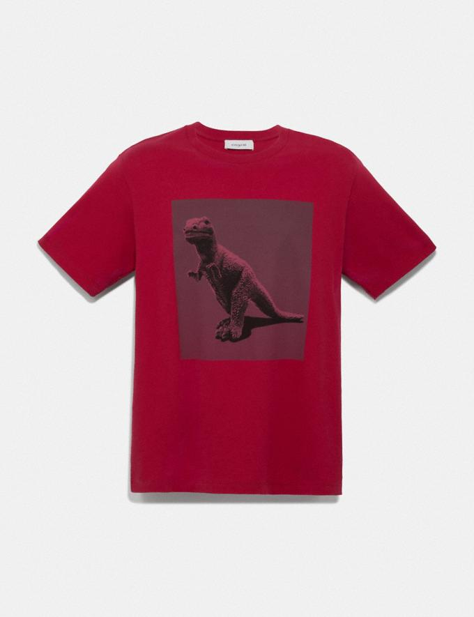 Coach Rexy by Sui Jianguo T-Shirt Red Men Ready-to-Wear Tops & Bottoms