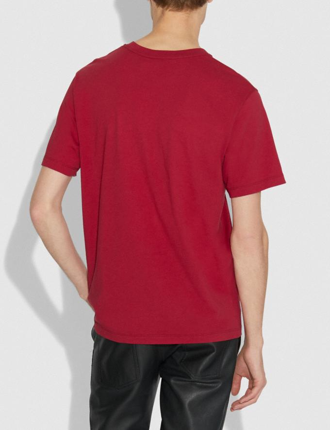 Coach Rexy by Sui Jianguo T-Shirt Red Men Ready-to-Wear Tops & Bottoms Alternate View 2