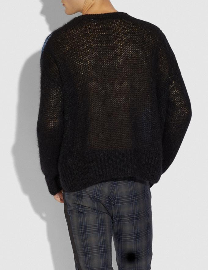 Coach Rexy Mohair Sweater Black Men Ready-to-Wear Tops & Bottoms Alternate View 2