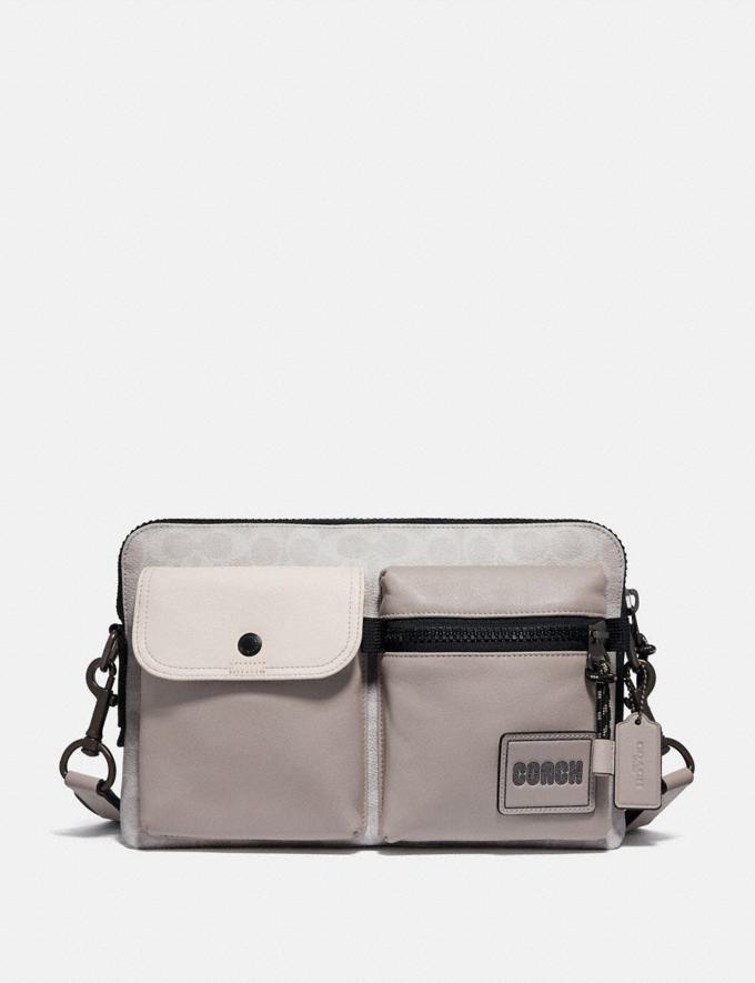 Coach Pacer Modular Crossbody in Signature Canvas With Coach Patch Ji/Chalk/Bone New Men's New Arrivals View All