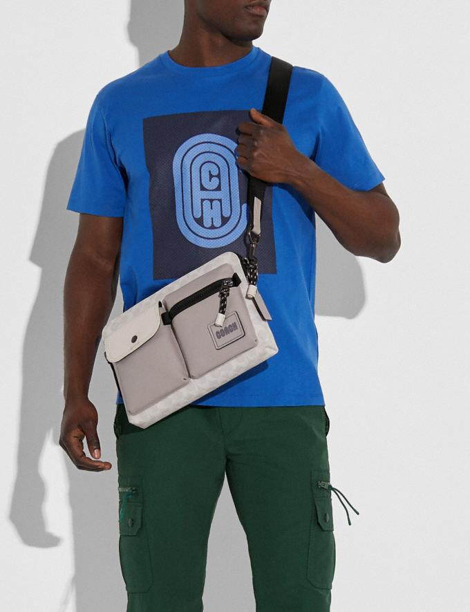 Coach Pacer Modular Crossbody in Signature Canvas With Coach Patch Ji/Chalk/Bone New Men's New Arrivals View All Alternate View 3