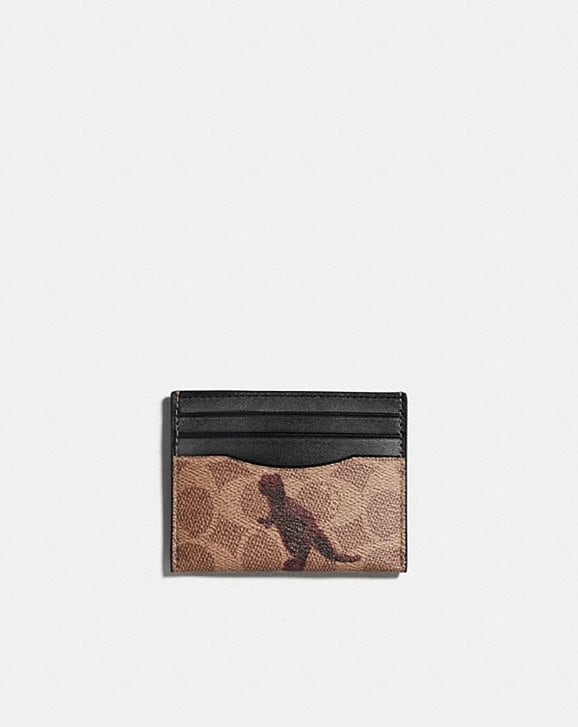 Coach CARD CASE IN SIGNATURE CANVAS WITH REXY BY SUI JIANGUO