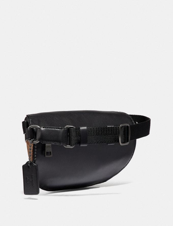 Coach Belt Bag in Signature Canvas With Rexy by Sui Jianguo Tan/Black/Pewter Women Handbags Belt Bags Alternate View 1