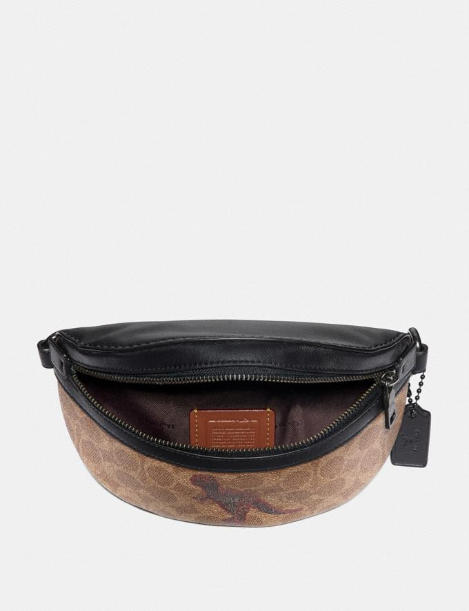 Coach Belt Bag in Signature Canvas With Rexy by Sui Jianguo Tan/Black/Pewter Women Handbags Belt Bags Alternate View 2